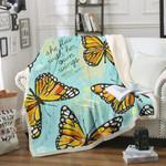 Butterfly BT080919F Sherpa Fleece Blanket