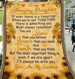 To My Daughter CLT0612099N Sherpa Fleece Blanket