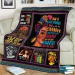 A Stronger Braver Smarter Black Woman CLM3110003S Sherpa Fleece Blanket