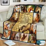 To My Daughter CLM2210159S Sherpa Fleece Blanket