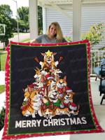 Corgi Christmas Tree CLM0111071S Sherpa Fleece Blanket
