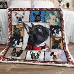 French Bulldog CLA07110611F Sherpa Fleece Blanket