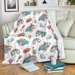 Little Girly Unicorn CL16100365MDF Sherpa Fleece Blanket