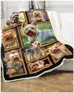 Yorkshire Terrier CL260897MDF Sherpa Fleece Blanket