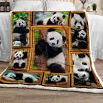 Giant Panda CLA08110489F Sherpa Fleece Blanket