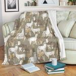 Alpaca Pattern CLA15100114F Sherpa Fleece Blanket