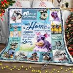 Miniauture Schnauzer Dog CL15110195MDF Sherpa Fleece Blanket