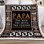 Papa The Man YH25100250F Sherpa Fleece Blanket