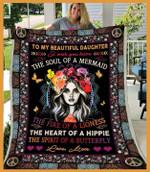 Hippie To My Daughter CL240858MD Sherpa Fleece Blanket