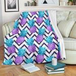 Purple Zig Zag Pineapple CL16100509MDF Sherpa Fleece Blanket