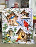 Awesome Birds CLA21100874F Sherpa Fleece Blanket