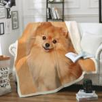 Pomeranian CL20110876MDF Sherpa Fleece Blanket