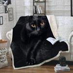 Bombay Cat CL21110144MDF Sherpa Fleece Blanket