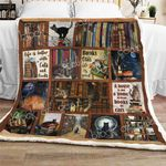 Books And Cats CL270962MDF Sherpa Fleece Blanket