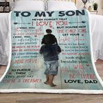 Family To My Son From Dad CL16110329MDF Sherpa Fleece Blanket