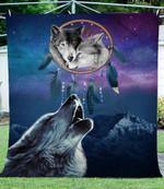 Howling wolves CLA0411314F Sherpa Fleece Blanket