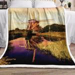 Windmill Farm Lake BT1010338F Sherpa Fleece Blanket