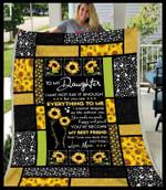 Sunflower For Daughter From Mom CL25110597MDF Sherpa Fleece Blanket