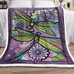 Dragonfly BL021081F Sherpa Fleece Blanket