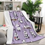 Purple Panda CLA1110058F Sherpa Fleece Blanket