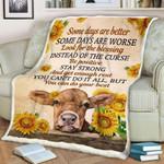 Cow Some Days CLA1910430F Sherpa Fleece Blanket