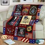 Navy Mom Strong CLA27120827F Sherpa Fleece Blanket