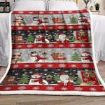 Bear Owl Snowman Santa Claus Christmas HN1510010F Sherpa Fleece Blanket