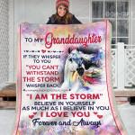 My Granddaughter Horse CL02111241MDF Sherpa Fleece Blanket