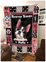 Boston Terrier CL240813MD Sherpa Fleece Blanket