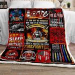 Forever The Title Firefighter CLA07111020F Sherpa Fleece Blanket