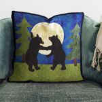 Campfire Bears TL3112002P Handmade Pillowcase