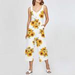 Sunflower HN130407 Button-Up Culotte Jumpsuit