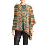 Asymmetrical Sleeve Sweater Native American Pattern Bohemian HN150401