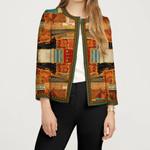 Sleeve Jacket Patchwork Color HN150404