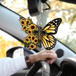 Butterfly Sunflower Car Hanging Ornament HN1604010