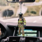 Firefighter CL170408 Car Hanging Ornament
