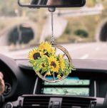 Hippie Sunflower CL170416 Car Hanging Ornament