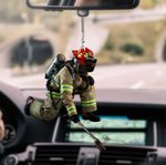 Firefighter CL170415 Car Hanging Ornament