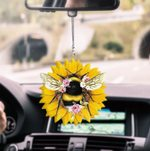 Bee Sunflowers CL170401 Car Hanging Ornament