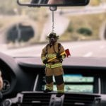 Firefighter CL170412 Car Hanging Ornament