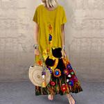 Cat Maxi Dress With Pockets HN170404