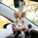 Chihuahua Cup HN200406 Car Hanging Ornament