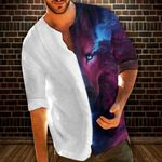 Wolf Male Casual Tops Blouses HM220444