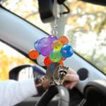 Raccoon Fly HN220413 Car Hanging Ornament
