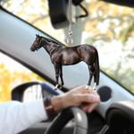 Horse Black HN220410 Car Hanging Ornament