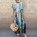 Catus Hummingbird Short Sleeve Dress HN220416