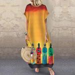 Native American Short Sleeve Dress HN220418