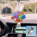Personalized Corgi With Colorful Balloon HN260405 Car Hanging Ornament