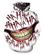 Clown Smiley Print Hoodie