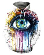 3d Eye Print Hoodie